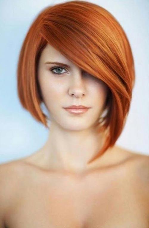 Kiểu tóc Bob lệch thích hợp với những khách hàng nữ cá tính