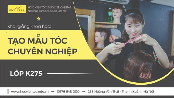 Khai giảng khóa học cắt tóc chuyên nghiệp khóa K275