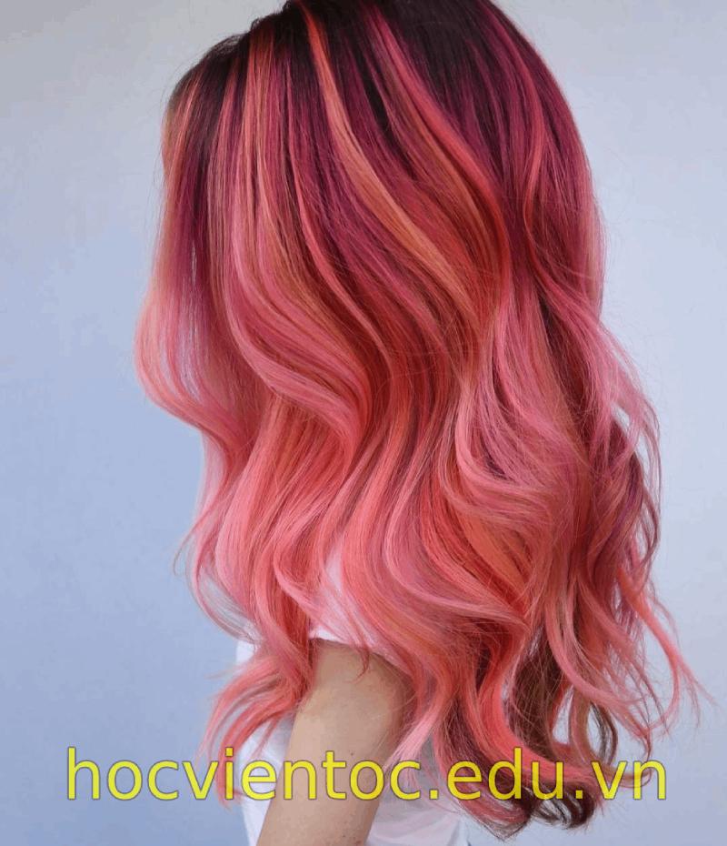 Tổng hợp các công thức nhuộm tóc màu hồng – Học viện tóc quốc tế OneStar – Dạy cắt tóc theo tiêu chuẩn Toni&Guy
