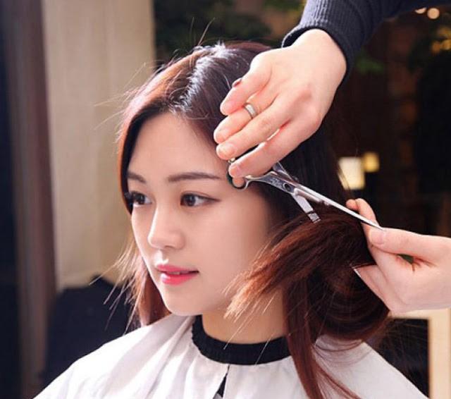 Học cắt tóc ở Hoà Bình 1