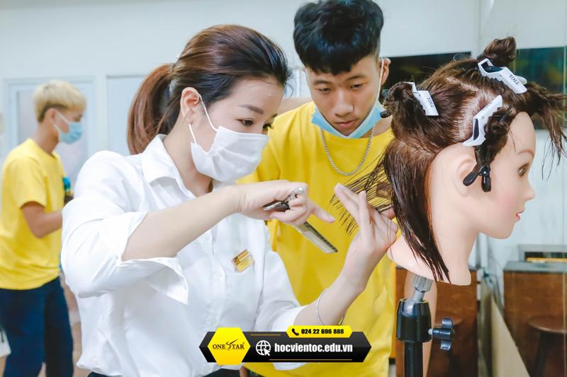 Học cắt tóc ở Vĩnh Phúc 2