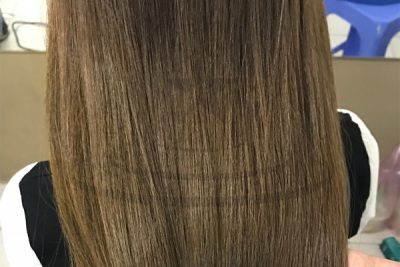 Công thức nhuộm màu nâu tây cân bằng trên nền tóc nhiều tone màu